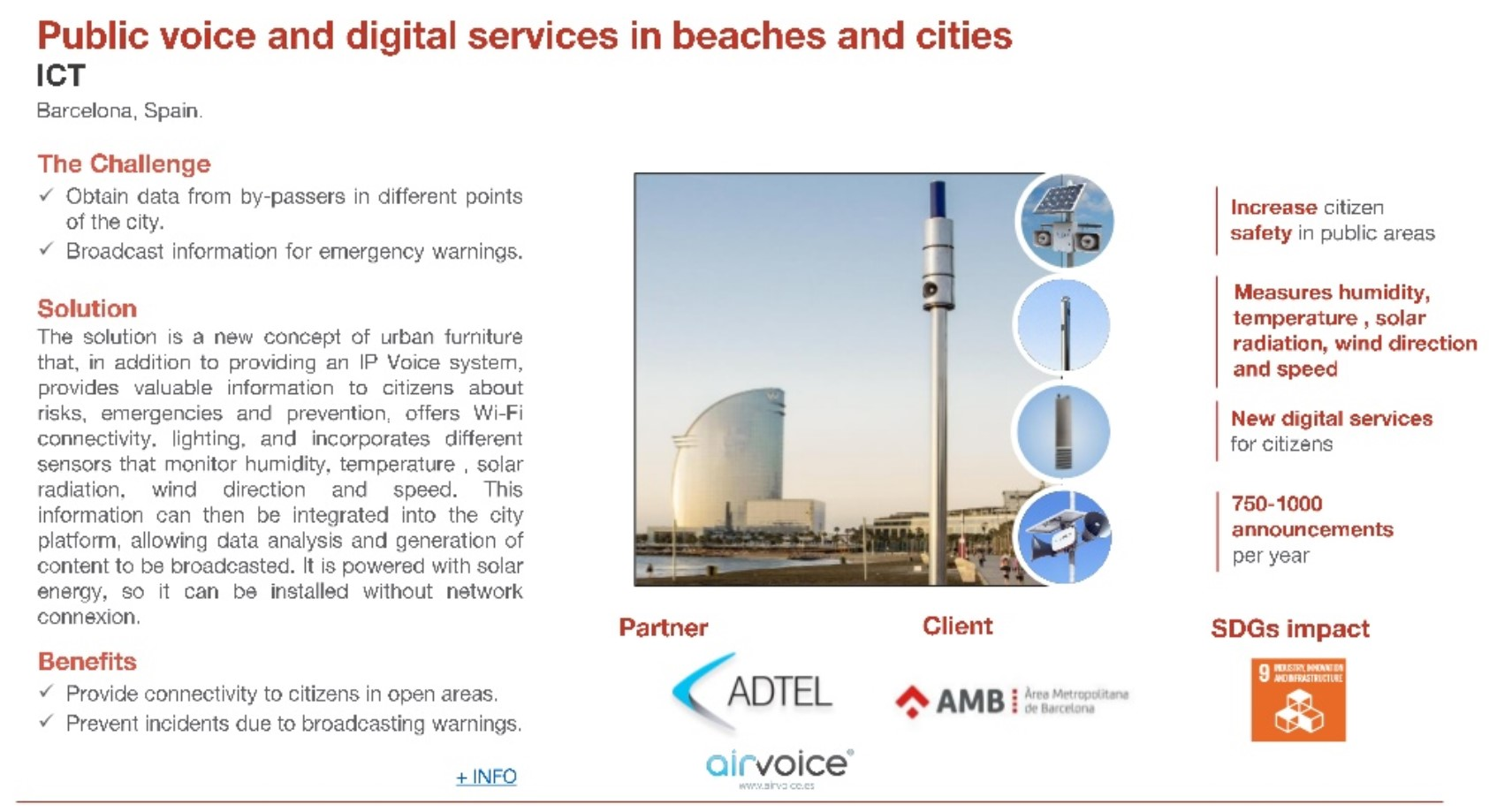 ACCIO talks about the AirVoice public addres wireless solution that covers the Barcelona coast