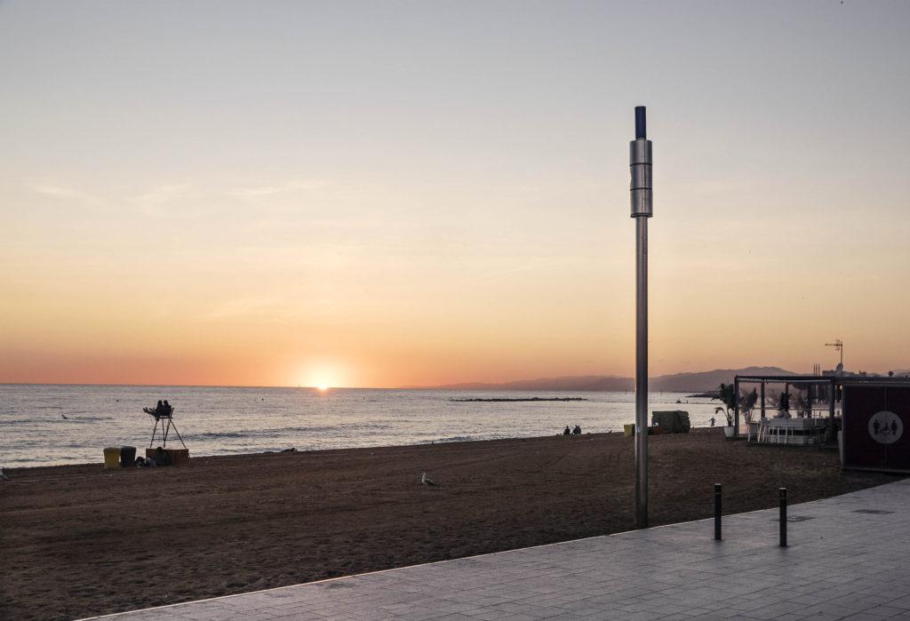 Megafonía inalámbrica para playas