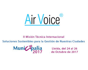 AirVoice participates in the international fair of equipment and municipal services MUNICIPALIA