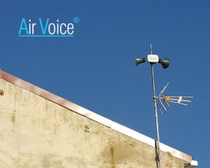 The city council of Pina de Ebro has installed the AirVoice compact public address system