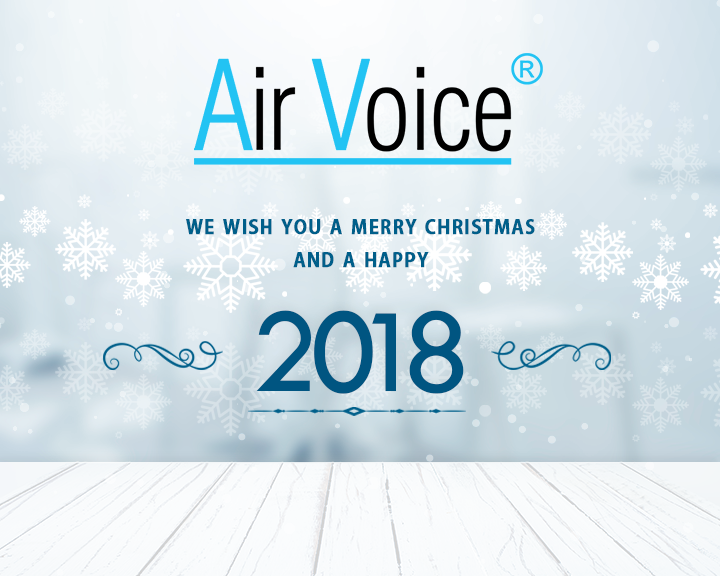 AirVoice wish you a Merry Christmas and a Happy new year 2018
